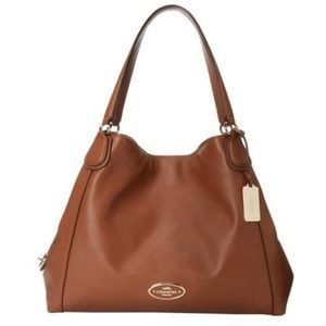 EUC Coach Edie Pebble Leather Shoulder Bag